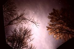 Beautiful Winter Sky with stars natural background