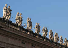 Low angle view of statues Stock Images