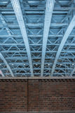 Low angle view of steel roof structure Royalty Free Stock Image