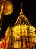 Low Angle View of Temple at Night Stock Photos