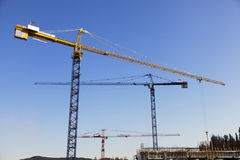 Construction Site Cranes Royalty Free Stock Image