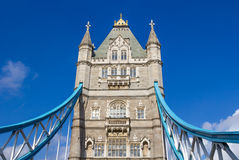 Low angle view of Tower Bridge Royalty Free Stock Images