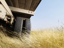Low angle view of truck. Royalty Free Stock Photography