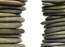 Stacked flat pebbles Stock Photography