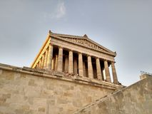 Low angle view of Walhalla Memorial, Germany stock photo