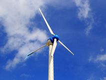 Low angle view of wind turbine Stock Photo
