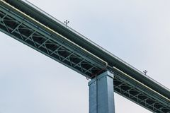 Low-angle view of Zubova Schel viaduct, Sochi, Russia Stock Photography