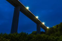 Low-angle view of Zubova Schel viaduct, Sochi, Russia Royalty Free Stock Photos