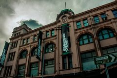 Low Angled Photography of Brown Building Royalty Free Stock Image