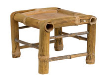 Low bamboo stool Stock Photos