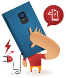 Low Batt Calling. Low Battery Call. Simple and Neat Vector illustration Royalty Free Stock Images