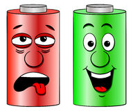 Low battery and full battery Royalty Free Stock Photos