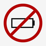 Low battery icon Royalty Free Stock Images