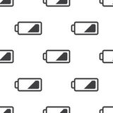Low battery, vector seamless pattern Stock Photo