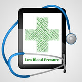Low Blood Pressure Represents Ill Health And Ailment Stock Photography