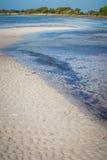 Low blue water flats of Bahia Honda Bay in Florida Keys Stock Image