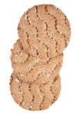 Low caloric crispbread. Isolated on white stock photo