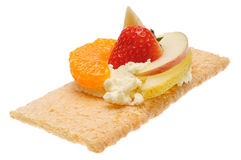 Low caloric open sandwich. Isolated on white. Background Stock Photography
