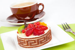 Low-calorie fruit cake Royalty Free Stock Photos