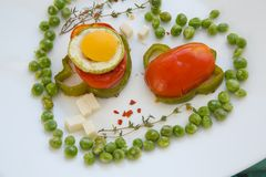 Low-calorie healthy lunch Royalty Free Stock Photos