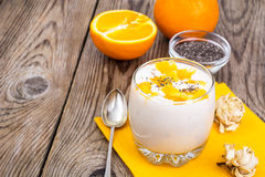 Low calorie milk fruit fresh with orange Royalty Free Stock Image
