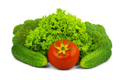 Low-calorie raw vegetables Stock Image