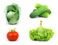Low-calorie raw vegetables Royalty Free Stock Photo