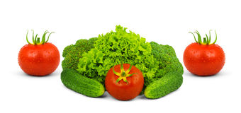 Low-calorie raw vegetables Royalty Free Stock Image