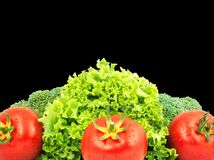 Low-calorie raw vegetables Stock Images