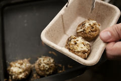 Low-calorie stuffed mushrooms Stock Image