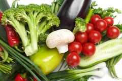 Low-calorie vegetables Royalty Free Stock Photos