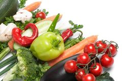 Low-calorie vegetables Royalty Free Stock Images