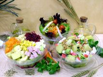 Healthy salads royalty free stock photography