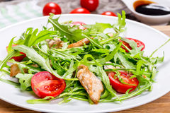 Low-calories salad with chicken breast, arugula  Royalty Free Stock Images