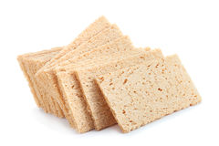 Low calories snack bread. Isolated on white Royalty Free Stock Photography