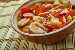 Low Carb Jambalaya. With Chicken, Shrimp and Sausage stock image