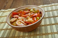 Low Carb Jambalaya. With Chicken, Shrimp and Sausage stock photo