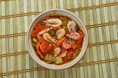 Low Carb Jambalaya. With Chicken, Shrimp and Sausage royalty free stock photos