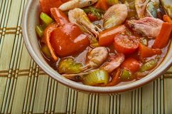 Low Carb Jambalaya. With Chicken, Shrimp and Sausage royalty free stock images