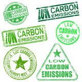 Low Carbon Emissions Stamps Royalty Free Stock Image