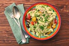 Low carbs Tuna Avocado Salad in glass bowl. Royalty Free Stock Photos
