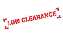 Low Clearance rubber stamp Royalty Free Stock Photo