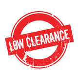 Low Clearance rubber stamp Royalty Free Stock Photography