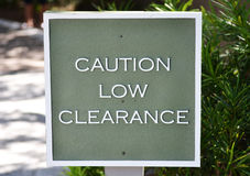 Low Clearance sign Stock Images
