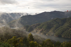 Low cloud along the valley Royalty Free Stock Image