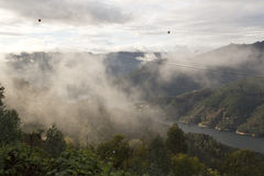 Low cloud along the valley Stock Photo
