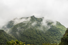 Low cloud cover Mount Unzen in Kumamoto, Kyushu. Stock Image