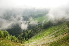 Low Cloud Over Carnic Alps Near Sauris Royalty Free Stock Images