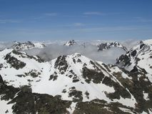 Low Cloud In The Pyrenees Stock Images