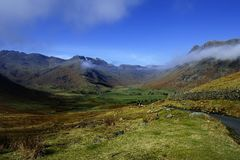 Low clouds below the summits Royalty Free Stock Photos